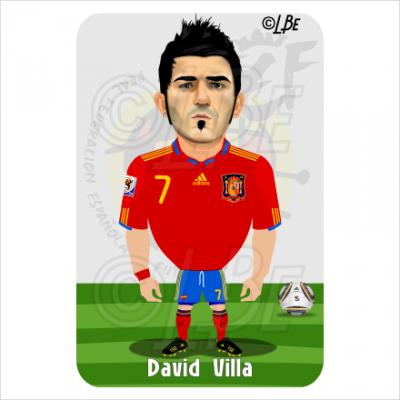 David Villa Caricature Jobspapa